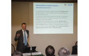 Stefano Belluz, VicePresidente Assoltherm, al Meeting Annuale VP Solar