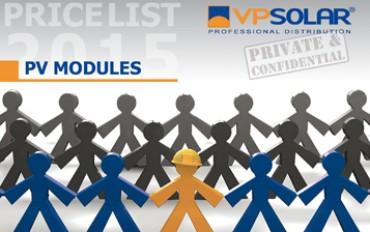 VP Solar new catalog for pv panels