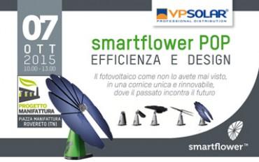 Presentazione ufficiale famiglia smartflower POP a Rovereto il 7 ottobre