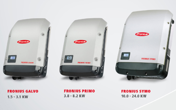 Fronius inverters: Primo, Symo and Galvo series