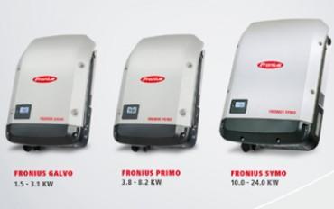 Fronius inverters: Primo, Symo and Galvo series