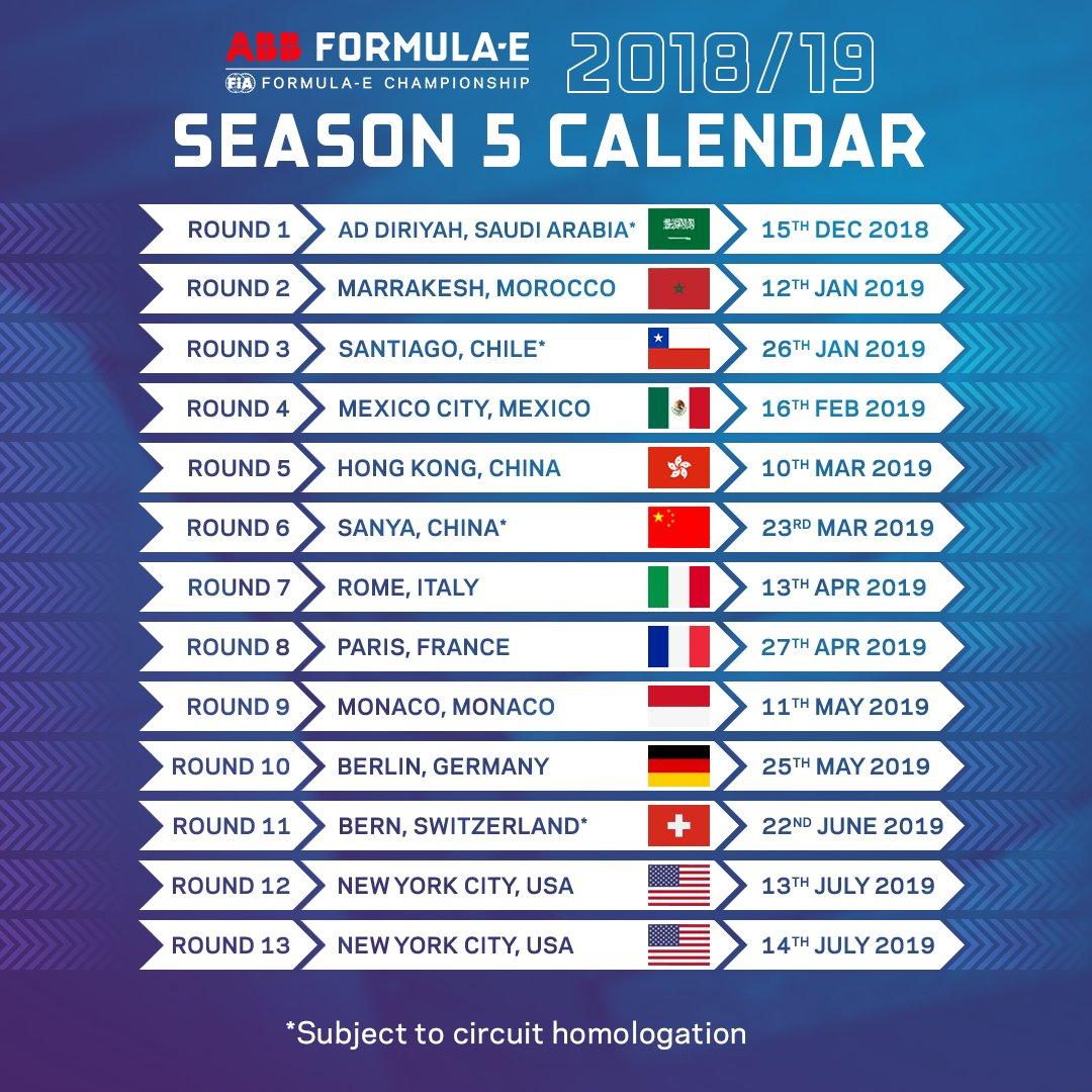 Calendario Formula E 2020 2020.Calendario Formula E 2020 Calendario 2020